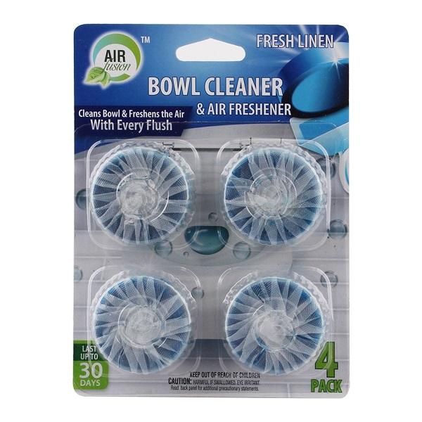 Air Fusion Bowl Cleaner & Freshener 4PK Linen